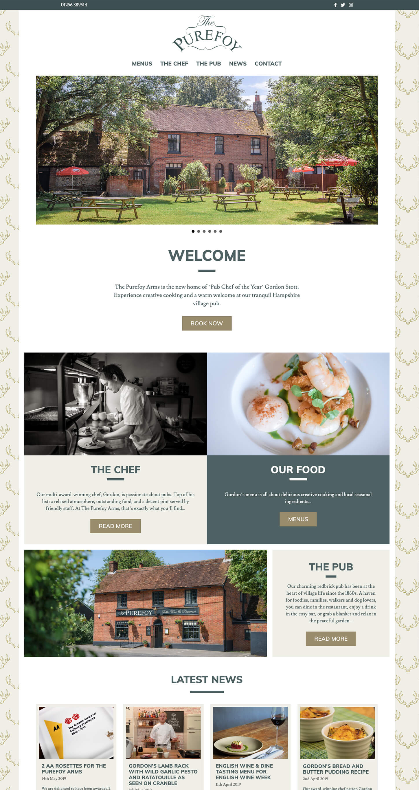 The Purefoy Arms homepage